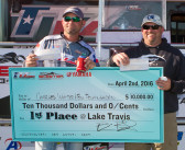 CHARLES WHITED & BILL POLKINGHORN TOP 188 TEAMS AND WIN $10,000 ON LAKE TRAVIS